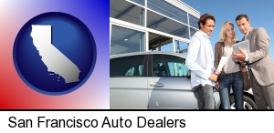 San Francisco, California - an auto dealership conversation